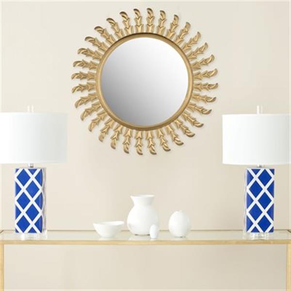 Safavieh Inca Sun 32-in x 32-in Gold Mirror