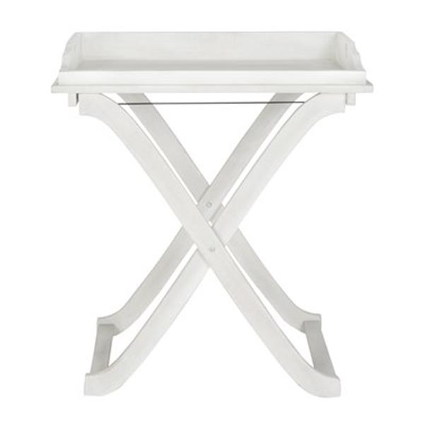 Safavieh 31.50-in Antique White Covina Tray Table
