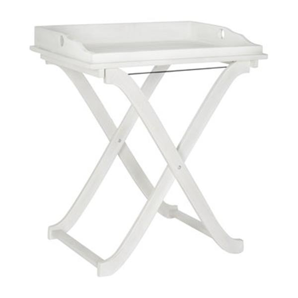 Wondrous Safavieh 31 50 In Antique White Covina Tray Table Pat6716C Home Interior And Landscaping Fragforummapetitesourisinfo