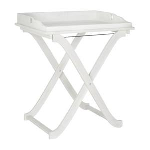 Safavieh 31.50-in Antique White Covina Tray Table