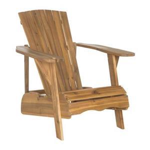 Safavieh 32.3-in x 36.6-in Teak Brown Vista Adirondack Chair
