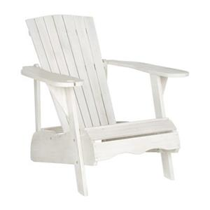 Safavieh 32.3-in x 36.6-in Antique White Vista Adirondack Chair
