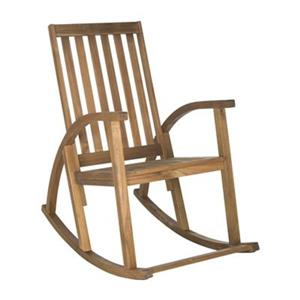 Safavieh 44.5-in x 26-in Teak-look Clayton Rocking Chair