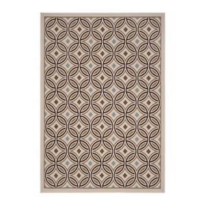 Safavieh Veranda Circle Quilt Cream/Chocolate Outdoor Rug