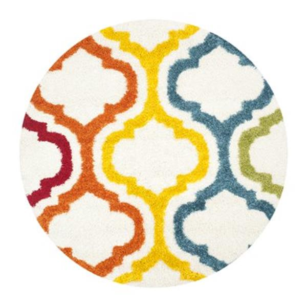 Safavieh Kids Shag Ivory and Multi-Colored Area Rug,SGK561A-