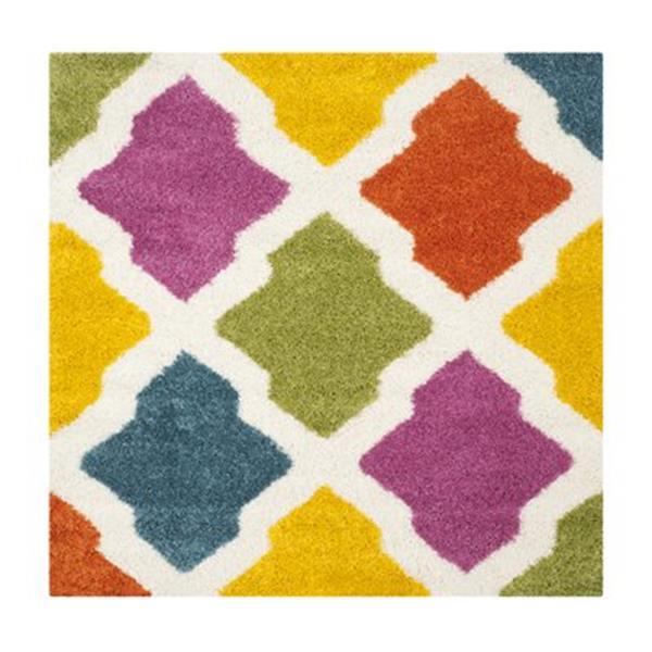 Safavieh Kids Shag Ivory and Multi-Colored Area Rug,SGK562A-