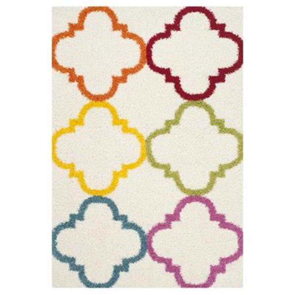 Safavieh Kids Shag Ivory and Multi-Colored Area Rug,SGK563A-