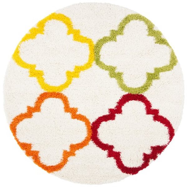 Safavieh Kids Shag Ivory and Multi-Colored Area Rug,SGK563A-
