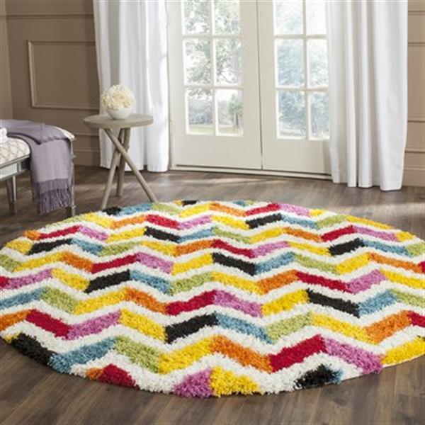 Safavieh Kids Shag Ivory and Multi-Colored Area Rug,SGK565A-