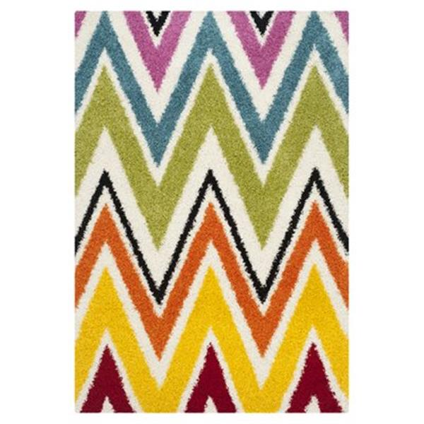 Safavieh Kids Shag Ivory and Multi-Colored Area Rug,SGK567A-