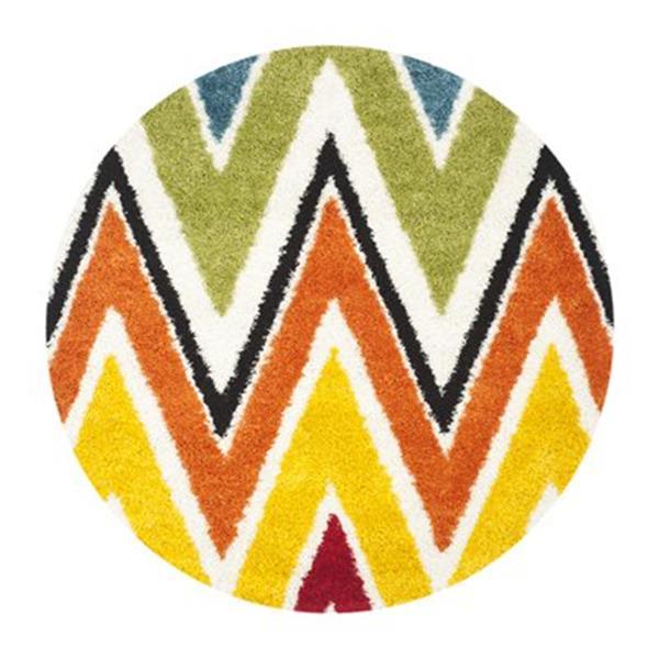 Safavieh Kids Shag Ivory and Multi-Colored Area Rug,SGK567A-