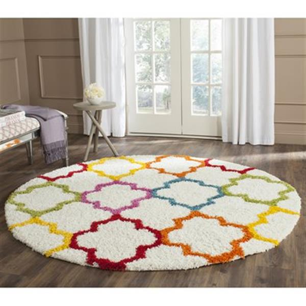 Safavieh Kids Shag Ivory and Multi-Colored Area Rug,SGK569A-