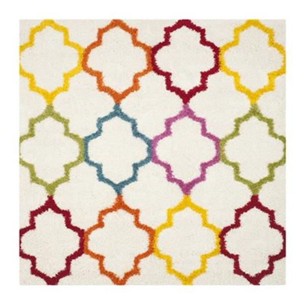 Safavieh Kids Shag Ivory and Multi-Colored Area Rug,SGK569A-