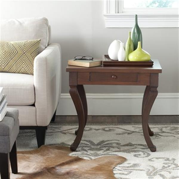 Safavieh American Home 21.5-in Brown Colman Side Table