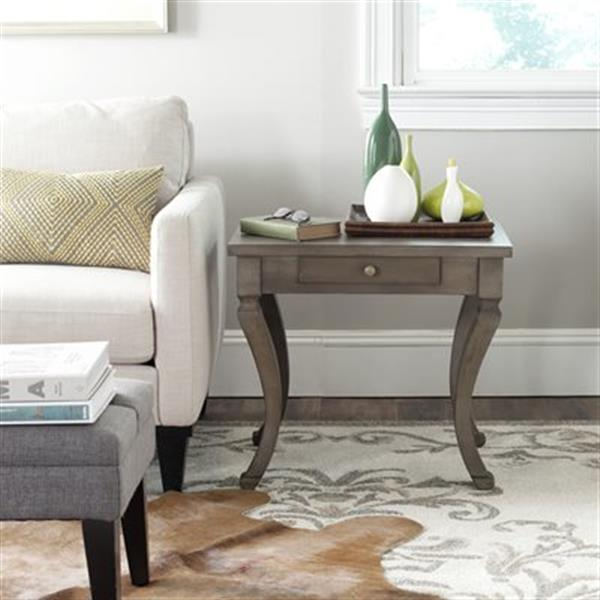 Safavieh American Home 21.5-in Saddle Brown Colman Side Table