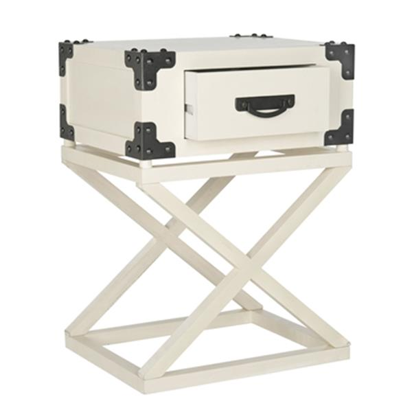 Safavieh American Home 25.6-in White Dunstan Accent Table