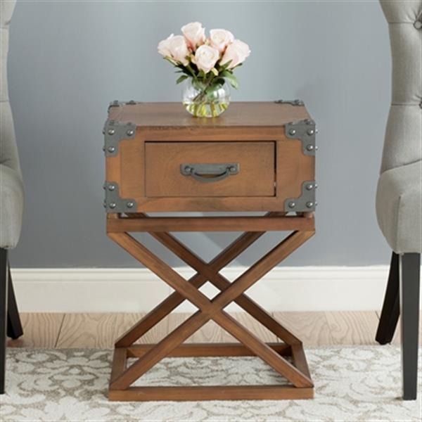 Safavieh American Home 25.6-in Autumn Leaf Dunstan Accent Table
