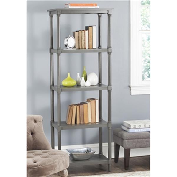 Safavieh Odessa American Home Grey Open Back Bookcase