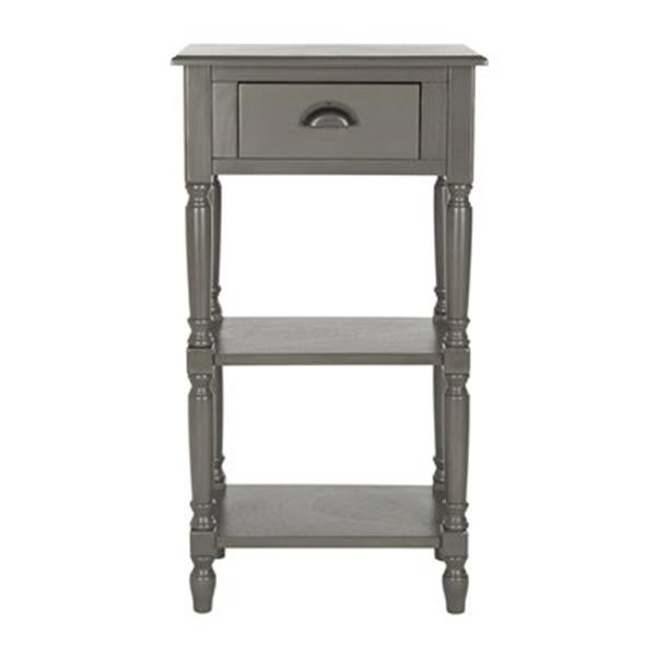 Safavieh American Home 35.8-in Warm Grey Chucky Accent Table