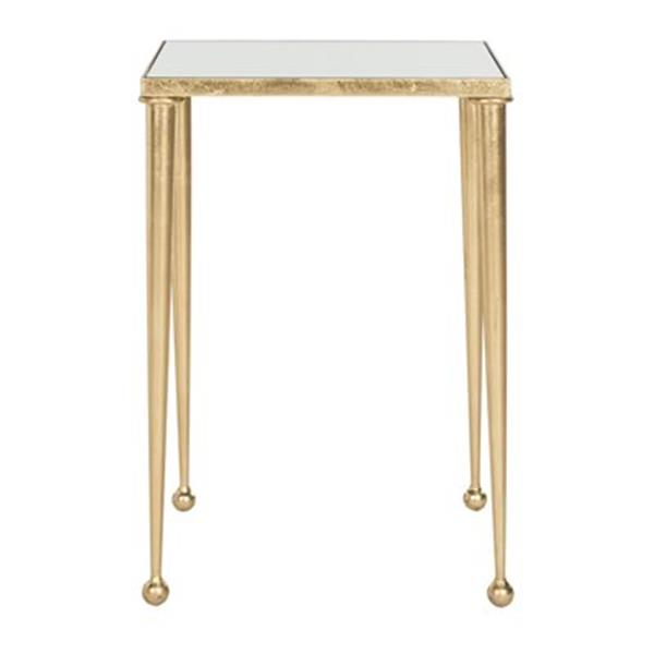 Safavieh Fox 21-in Gold/Mirror Nyacko End Table