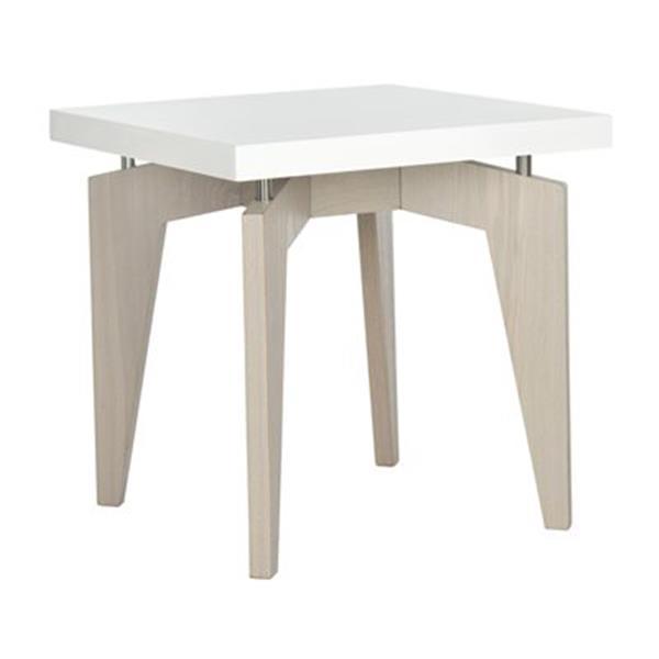 Safavieh Fox 19.6-in White/Grey Josef End Table