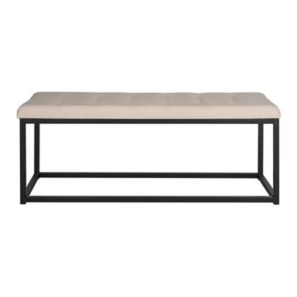 Safavieh Fox Reynolds 19-in x 48-in Beige Linen Bench