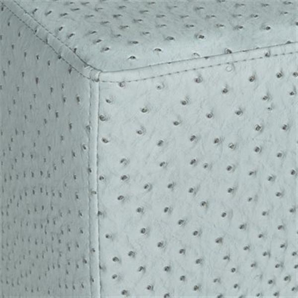 Safavieh Fox 19.00-in x 18.00-in Slate Faux Leather Matthias Ottoman