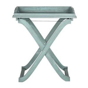 Safavieh 31.50-in Beach House Blue Covina Tray Table