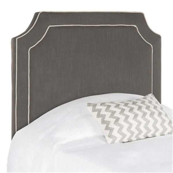 Safavieh Dane 4.5-ft x 3.4-ft Charcoal Piping  Twin Headboard