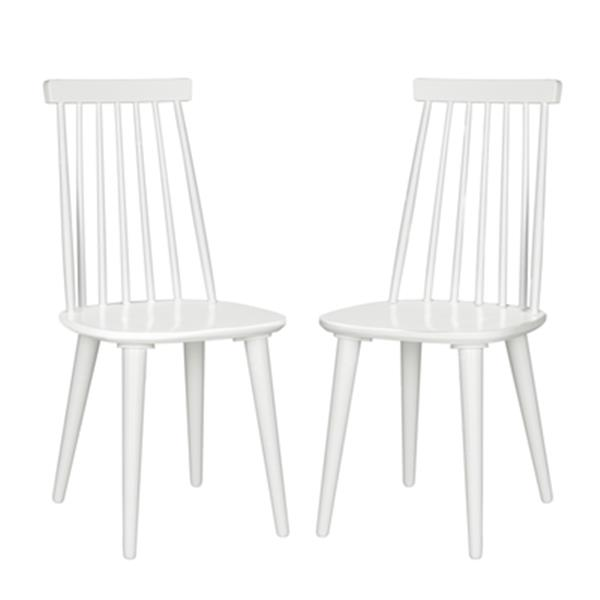 Safavieh Burris 36-in White Spindle Side Chair (Set of 2)