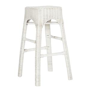 Safavieh Percy Wicker 30-in White Counter Stool