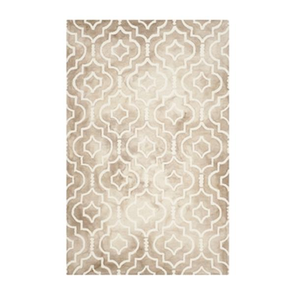 Safavieh Dip Dye Hand-Tufted Wool Beige and Ivory Area Rug,D