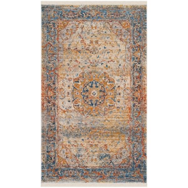 Safavieh Vintage Persian Blue Multicolor Area Rug,VTP435B-5