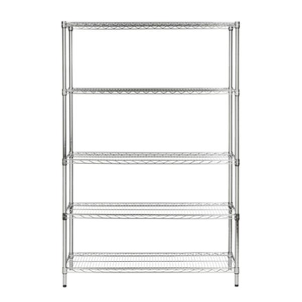 Safavieh HAC2004A Echo 5 Tier Heavy Duty Chrome Wire Shelf,H