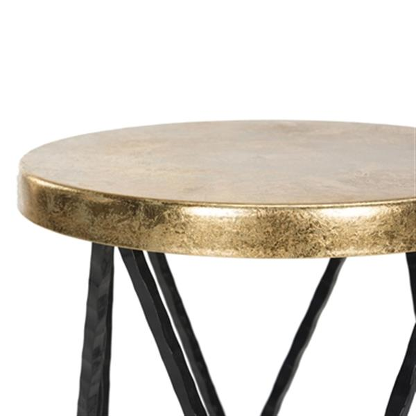 Safavieh Hester 30-in Black/Gold Barstool