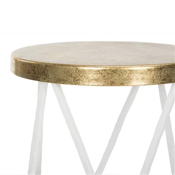 Safavieh Hester 30-in White/Gold Barstool