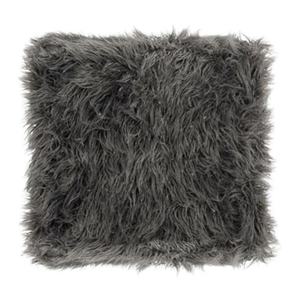 Safavieh Rowan Contemporary 20.00-in x 21.00-in Gray Faux Sheepkin