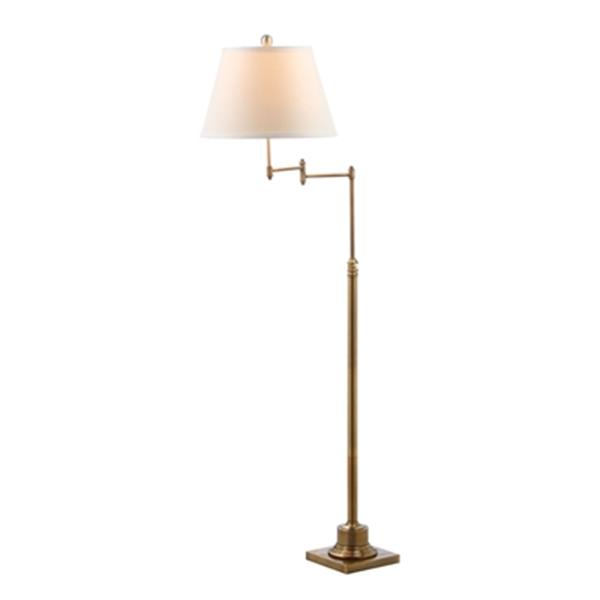 Safavieh 68.5-in Gold Ingram Adjustable Swivel Floor Lamp