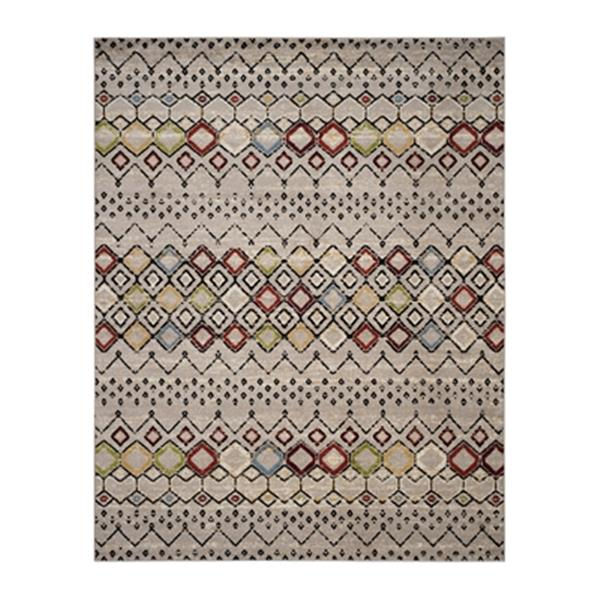 Safavieh Amsterdam Light Grey and Multicolor Area Rug,AMS108