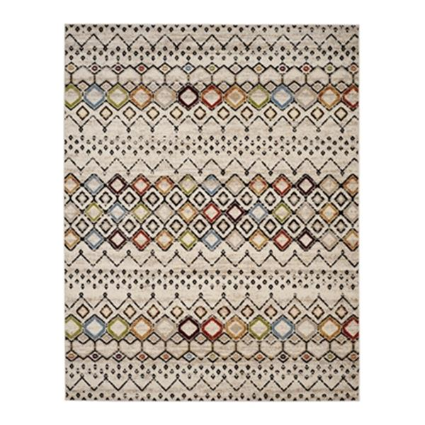 Safavieh Amsterdam Ivory and Multicolor Area Rug,AMS108K-8