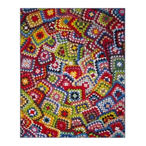 Safavieh Aztec Green and Multicolor Indoor Area Rug,AZT210D-