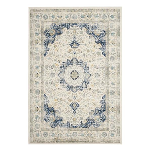 Safavieh Evoke Ivory and Blue Indoor Area Rug,EVK220C-6