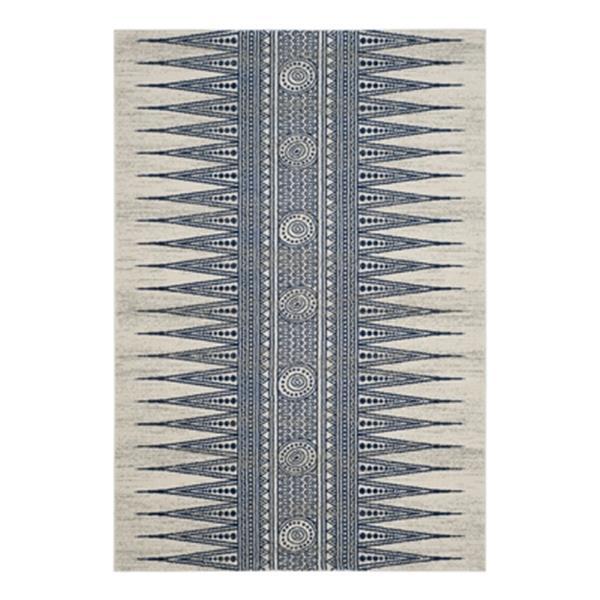 Safavieh Evoke Ivory and Blue Indoor Area Rug,EVK226C-6