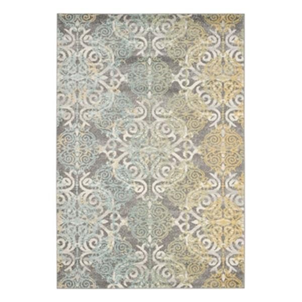 Safavieh Evoke Grey and Ivory Indoor Area Rug,EVK230D-6