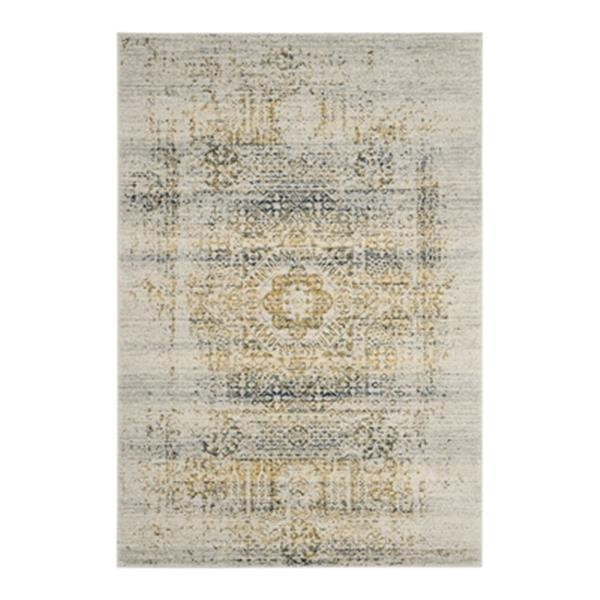 Safavieh Evoke Ivory and Blue Indoor Area Rug,EVK232C-6