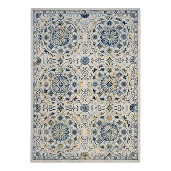 Safavieh Evoke Ivory and Blue Indoor Area Rug,EVK252C-6