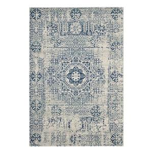 Safavieh Evoke Ivory and Blue Indoor Area Rug,EVK260C-6