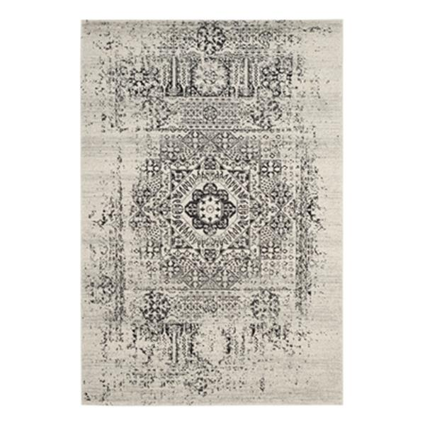 Safavieh Evoke Ivory and Black Indoor Area Rug,EVK260T-6