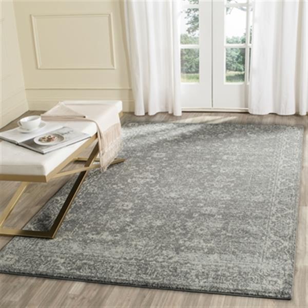 Safavieh Evoke Grey and Ivory Indoor Area Rug,EVK270S-6