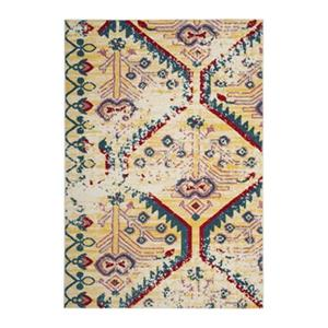 Safavieh Watercolor Light Yellow and Blue Indoor Area Rug,WT